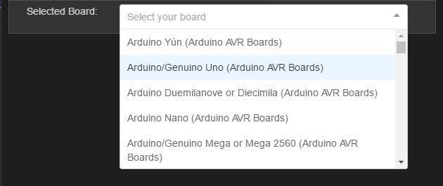 Board seçimi