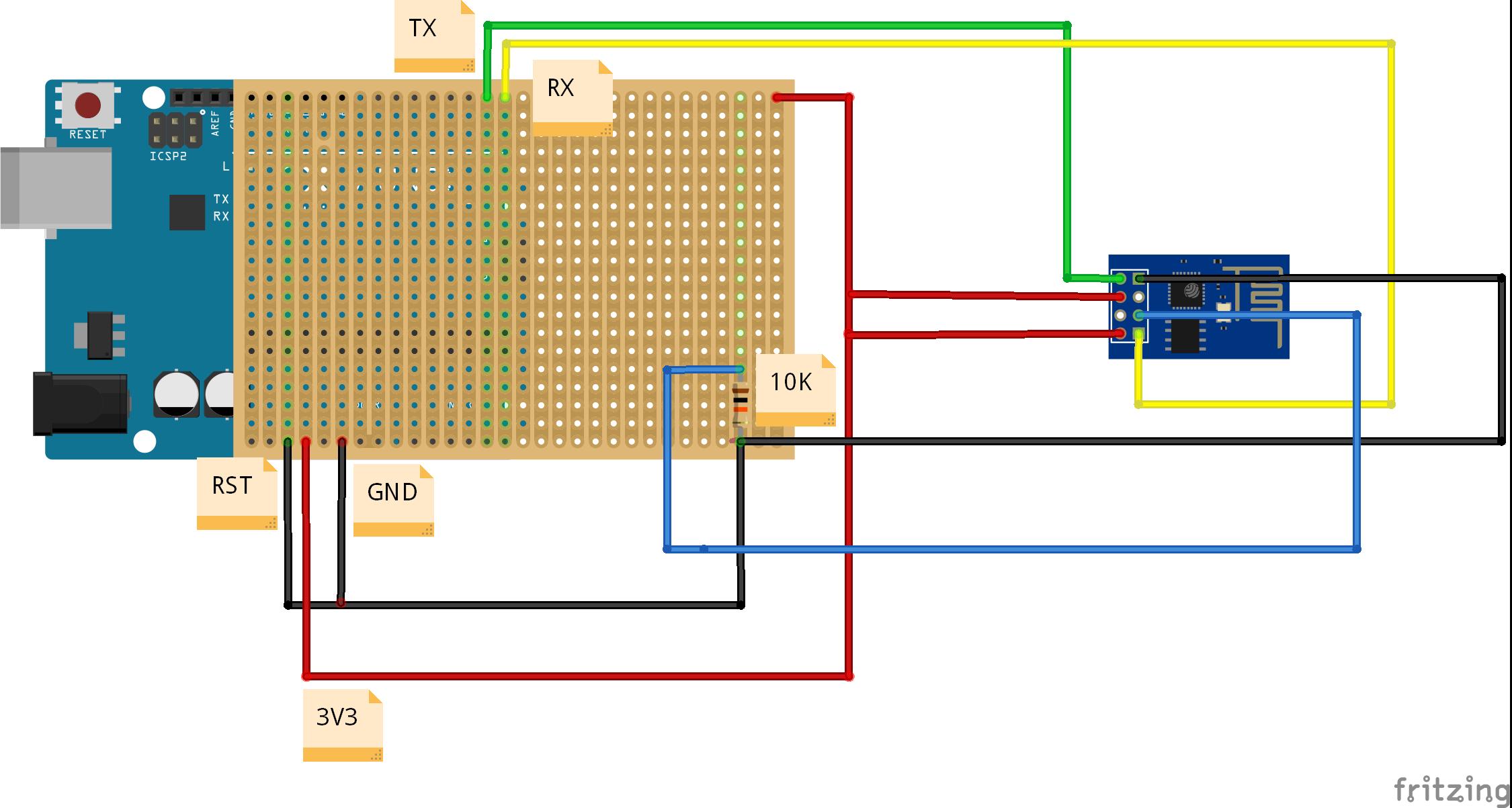 ESP8266 programlayıcı Delikli Devre