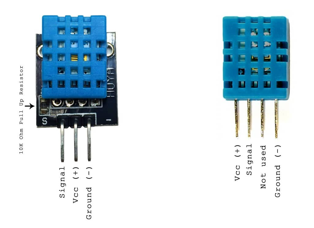 DHT 11 pinleri